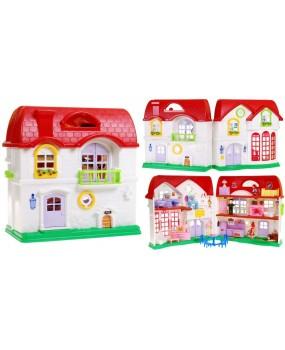 Veľký dom s červenou strechou